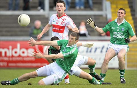 Eoin Bradley scored Derry's goal in the first half against Fermanagh