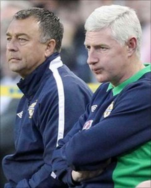 Nigel Worthington (right) and his assistant Glynn Snodin
