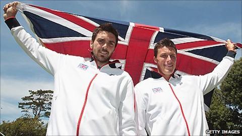 Colin Fleming (left) and former doubles partner Ken Skupski