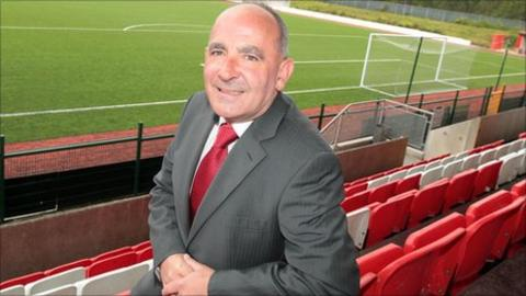 Tommy Breslin at Solitude after being unveiled as the new manager