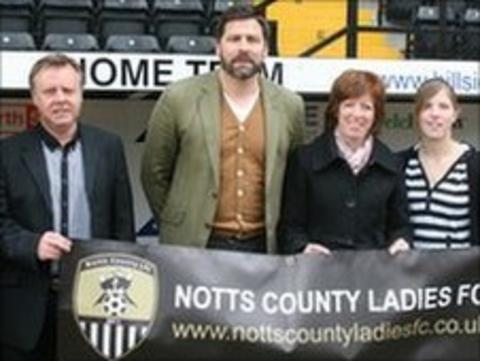 People launching the Notts County Ladies team