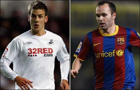 Andrea Orlandi and Andres Iniesta