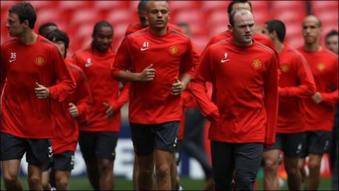 Manchester United prepare for the Champions League final
