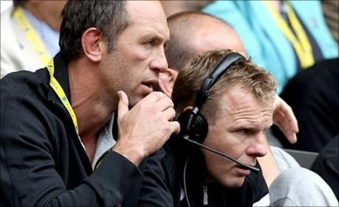 Saracens technical director, Brendan Venter (left) and director of rugby Mark McCall