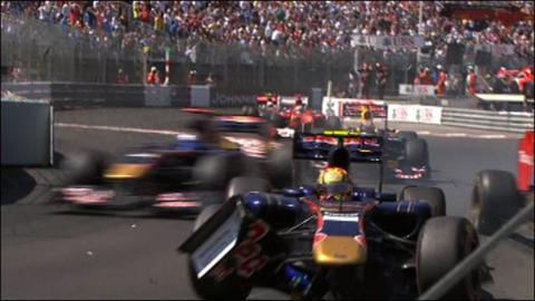 Red flag at Monaco Grand Prix