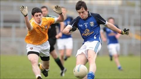 Patrick McBride and Gerald Smith in action as Cavan beat Antrim