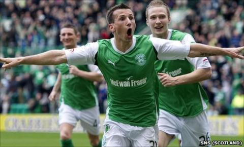 Liam Miller spent two seasons at Easter Road
