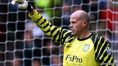 Brad Friedel playing for Aston Villa