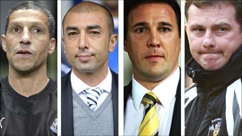 Chris Hughton, Roberto Di Matteo, Malcky Mackay, Mark Robins