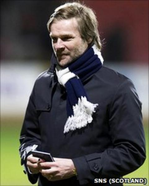 Falkirk manager Steven Pressley