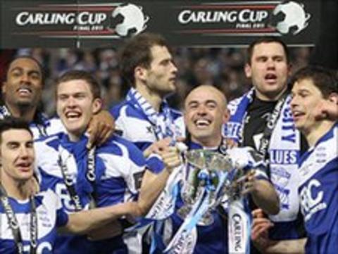 Birmingham celebrate Carling Cup success