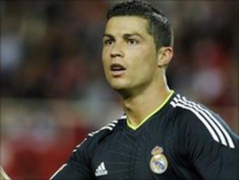 Real Madrid winger Cristiano Ronaldo
