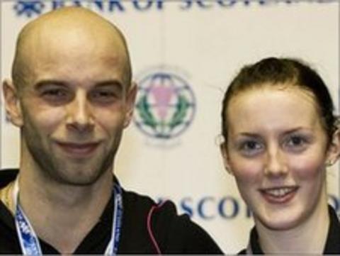 Scottish badminton players Robert Blair and Imogen Bankier