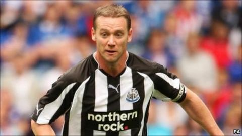 Kevin Nolan in action for Newcastle