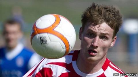 Former Brechin striker Rory McAllister
