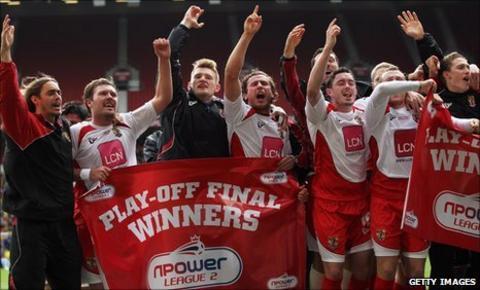 Stevenage celebrate