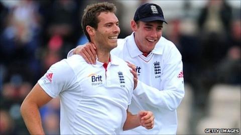 Chris Tremlett with Stuart Broad
