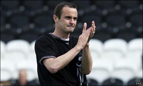 John Potter says goodbye to St Mirren's fans