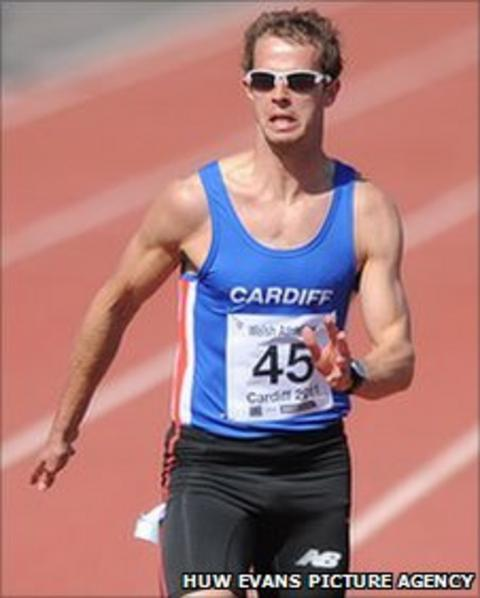 Rhys Williams wins the sprint at the Welsh Athletics Championships