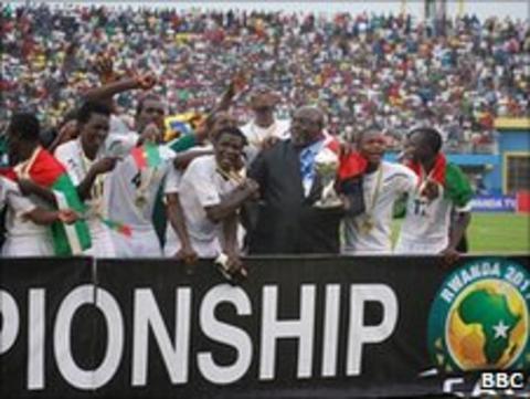 Africa's U17 champions Burkina Faso