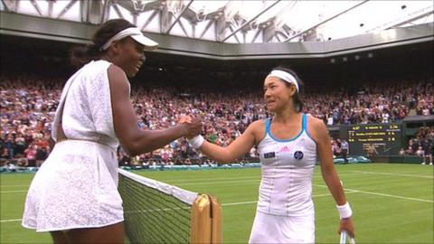 Venus Williams and Kimiko Date-Krumm