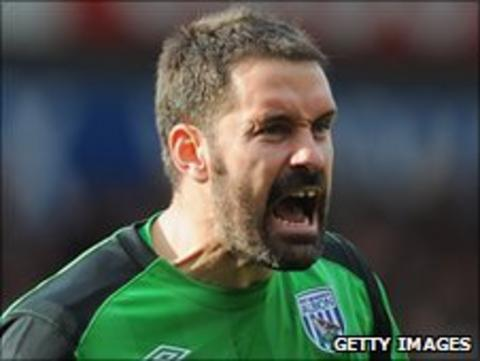 West Bromwich Albion goalkeeper Scott Carson