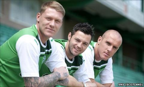Garry O'Connor (left), Ivan Sproule (centre) and fellow new signing Sean O'Hanlon