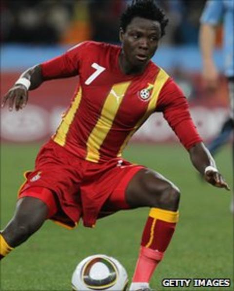 Ghana's Samuel Inkoom in 2010