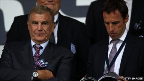 Sir Trevor Brooking (left) and Gareth Southgate