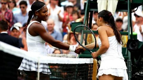 Serena Williams and Marion Bartoli