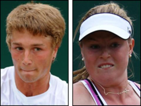 Liam Broady (right) and Daneika Borthwick