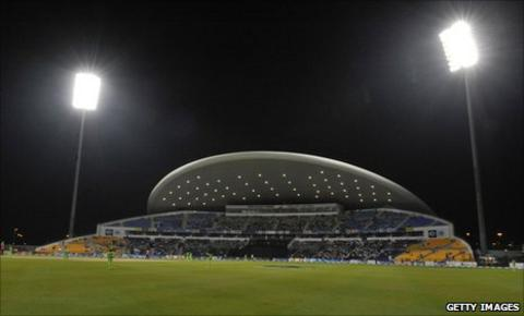 The Sheikh Zayed Stadium in Abu Dhabi