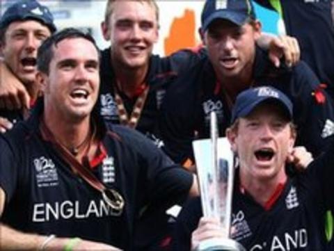 England celebrate winning the World Twenty20 in 2012