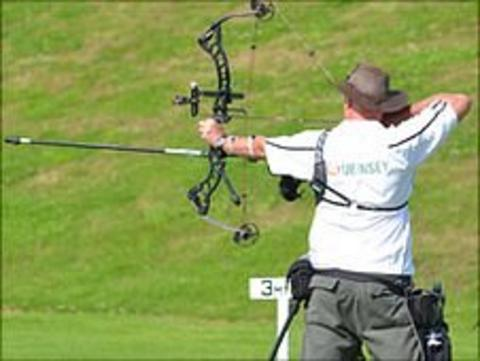 Guernsey archer shooting at the 2011 Island Games in the Isle of Wight
