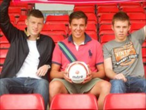 Connor Deards, Joey Butlin and Jake Jones (saddlers.co.uk)