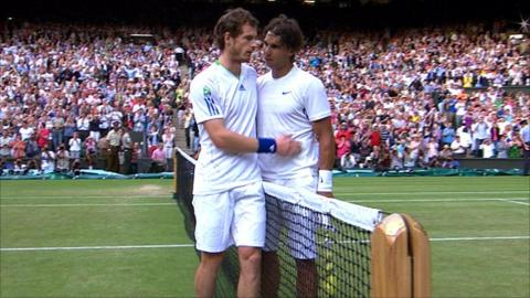 Andy Murray with Rafael Nadal