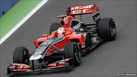 Jerome D'Ambrosio drives for Virgin