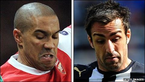 Gael Clichy (left) and Jose Enrique
