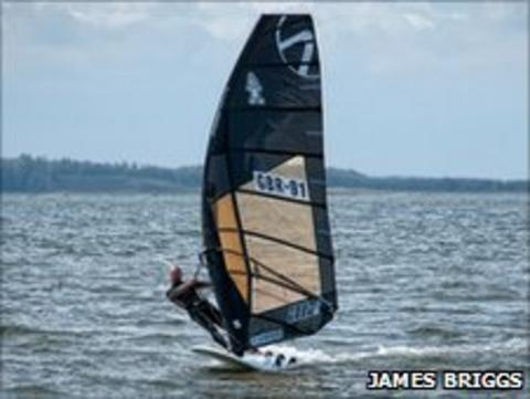 Windsurfer James Briggs