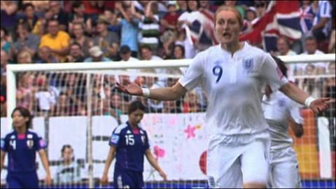 England's Ellen White scores World Cup wonder goal