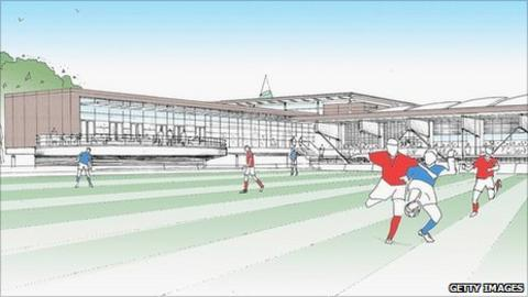 3D artist's impression of National Football Centre plans