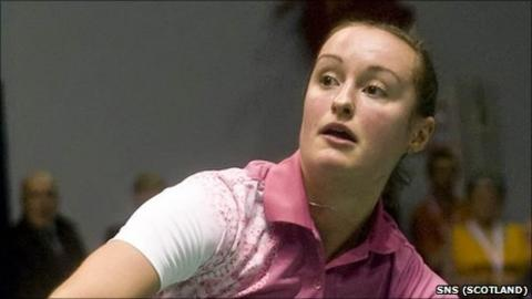Scottish badminton star Susan Egelstaff
