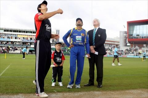 England captain Alastair Cook wins the toss at Old Trafford