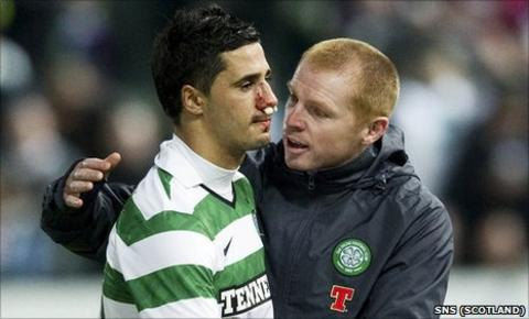 Beram Kayal and Neil Lennon