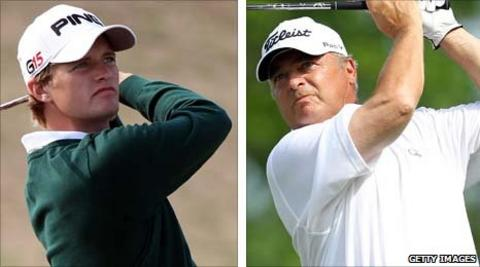 Tom Lewis and Tom Watson
