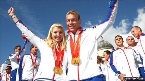 Becky Addlington and Sir Chris Hoy
