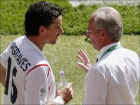 Owen Hargreaves and Sven-Goran Eriksson
