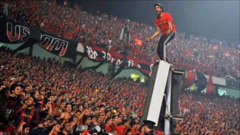 Al Ahly fans at a game in 2011
