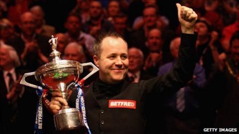 Snooker world champion John Higgins