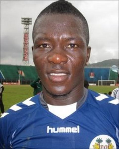 Ibrahim Teteh Bangura pictured when Sierra Leone played Niger